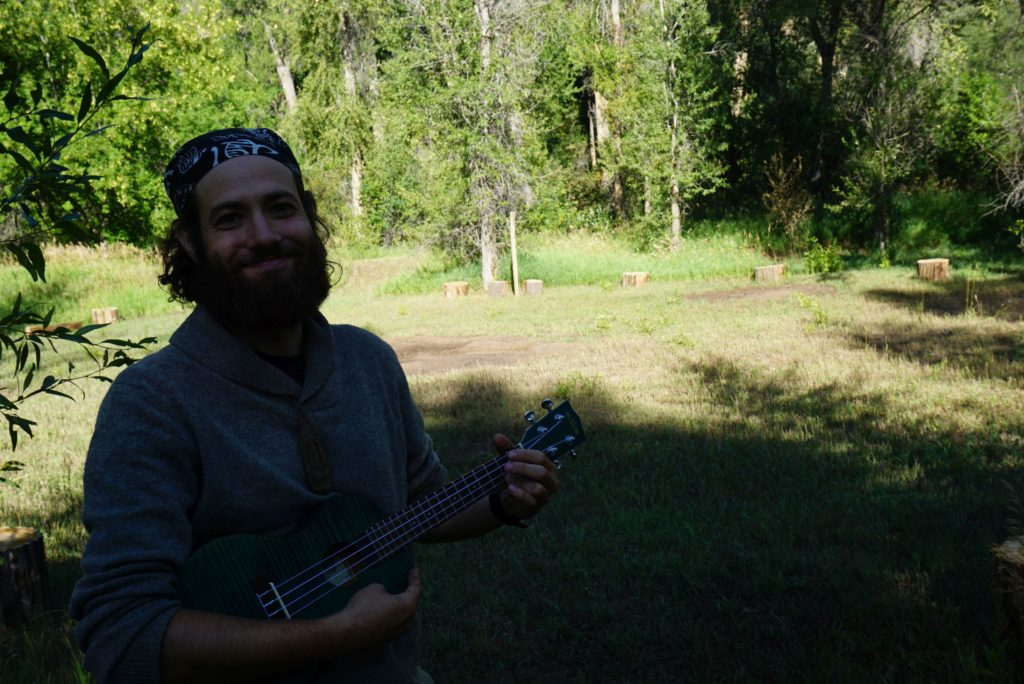 Ken with ukulele